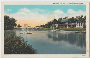 Old COLUMBUS Nebraska Nebr Postcard WAYSIDE COUNTRY CLUB