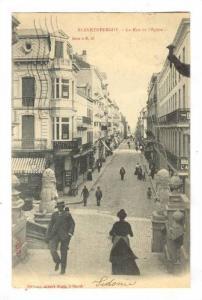 Blankenberge , Belgium, PU-1913 : La Rue de l'Eglise