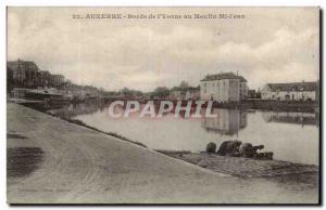 Auxerre CPA Bords de l'Yonne au moulin Mi l'eau (lavandieres)