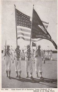CAMP ENDICOTT, Rhode Island, PU-1944; Color Guard Of A Battalion