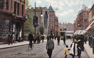 DERBY , Derbyshire , England , 1900-10s ; St Peter's Street
