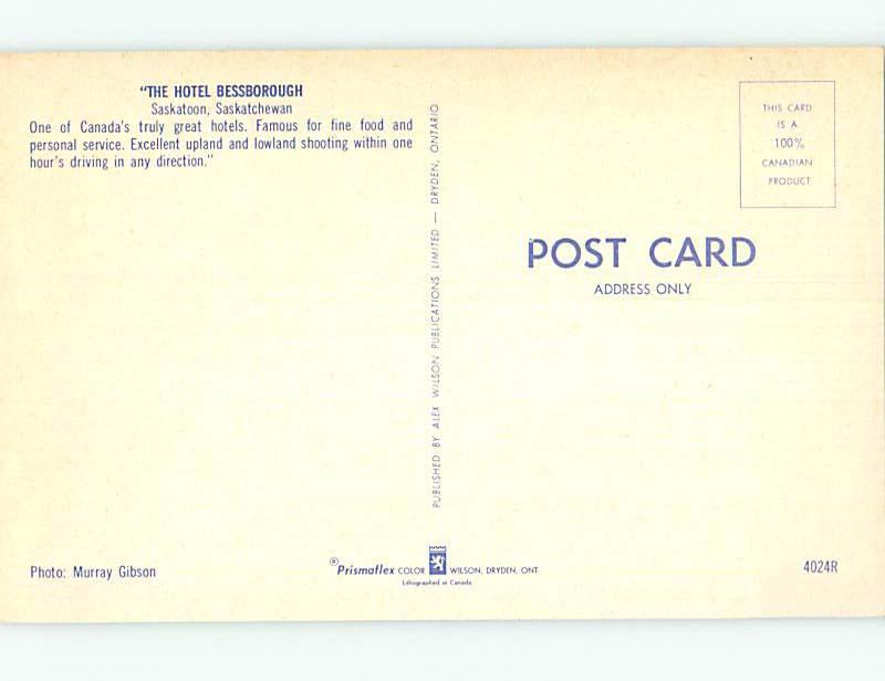Unused Pre-1980 TOWN VIEW SCENE Saskatoon Saskatchewan SK p8371