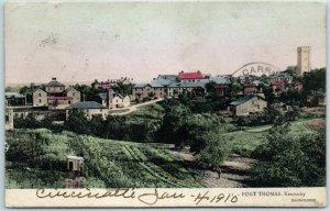 Fort Thomas, Kentucky Postcard Bird's-Eye Panorama View HAND-COLORED / 1910 RPO