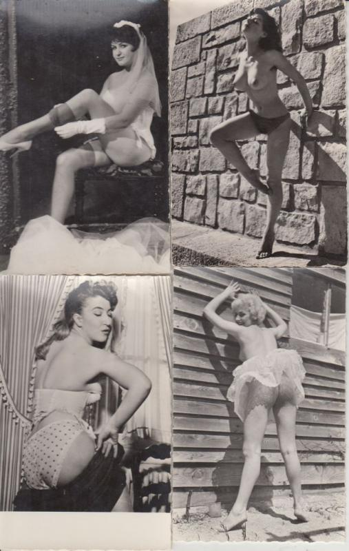 EROTIC EROTIQUE GIRLS FILLES REAL PHOTO NUDE GLAMOUR 7 CPA (60's)