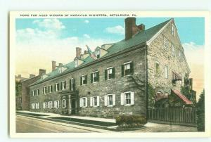 Home for Aged Widows of Moravian Ministers Bethlehem, PA Vintage Postcard