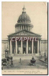 Old Postcard Paris V Pantheon was built from 1764 to 1790 Plans Souffet