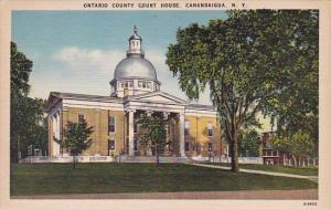 New York Canndaigua Ontario County Court House