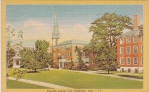 Cambridge MA, Massachusetts - Radcliffe College Yard - Linen
