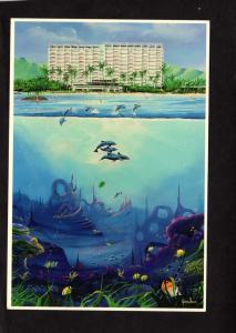 HI Hawaii Kahala Hilton Hotel Honolulu Postcard Artist Signed Jason Denaro