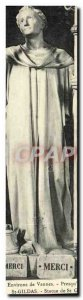 Old Postcard Environs de Vannes St Gildas Statue of St Gildas
