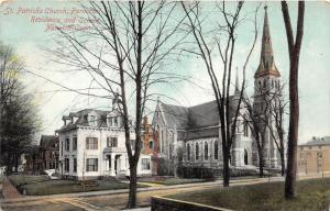 Norwich Connecticut~St Patrick's Parochial Residence & School & Church~1910 Pc
