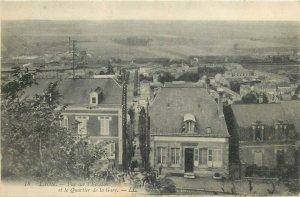CA France LAON vue sur l`Escalier et le Quartier de la Gare