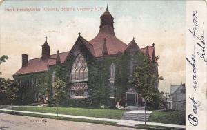 Exterior, First Presbyterian Church, Mount Vernon,  New York, PU_1907