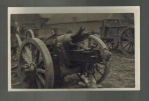 Mint RPPC Postcard Germany Army Wehrmacht Exploded Field Artillery  WW 1