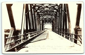 VTG Postcard RPPC Real Photo International Bridge Texas Mexico Del Rio Acuna A9