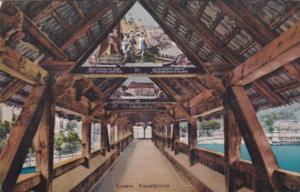 Switzerland Luzern Inneres Der Kapellbruecke