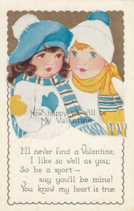 VALENTINE , 1900-10s; Two Kids