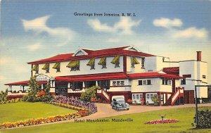 Jamaica, Jamaique Post card Old Vintage Antique Postcard Hotel Manchester Man...
