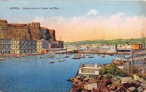 Italy  Napoli    Santa Lucia e Castel dell´Ovo.