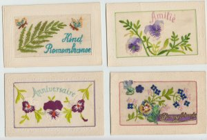EMBROIDERED SILK COLLECTION 482 Vintage Postcards with BETTER Pre-1940 (L3134)