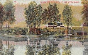 H83/ St Joe River Idaho Postcard c1910 Along the Shadows Cottages  57