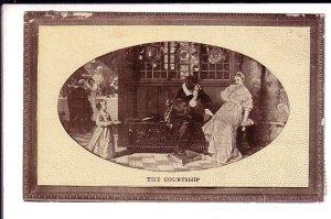 Romantic Couple, The Courtship,  Man in Black, Devil?, Used 1916