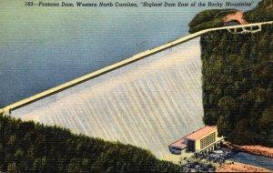 North Carolina The Fontana Dam Highest Dam East Of The Rocky Mountains 1950 C...