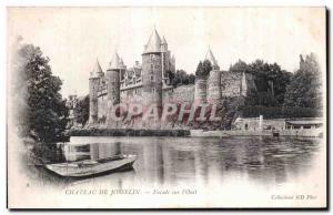 Old Postcard Chateau de Josselin Facade on I Oust