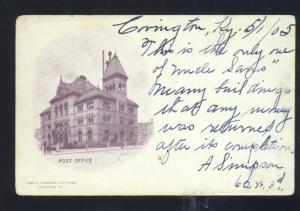 COVINGTON KENUCKY 1905 U.S. POST OFFICE VINTAGE POSTCARD
