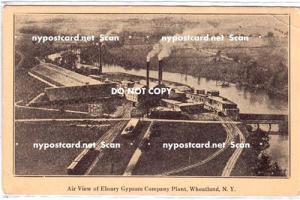 Air View Ebsary Gypsum Co Plant, Wheatland NY