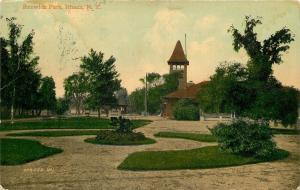 Ithaca New York~Renwick Park~Paths to Tower~Pavilion~Shelter House~1910 Postcard