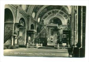 RP  St john's Co-Cathedral, Valletta, Malta, G.C., PU-1950s