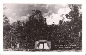 RPPC-Paupa, New Guinea An Open Air Theater WWII No. 7 Grogan Photo