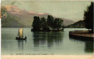 CPA ANNECY - L'Ile des Cygnes et la Tournette (691707)
