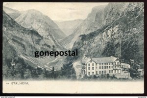 dc164 - NORWAY Stalheim 1909 Hotel in Mountains. Sent to Canada
