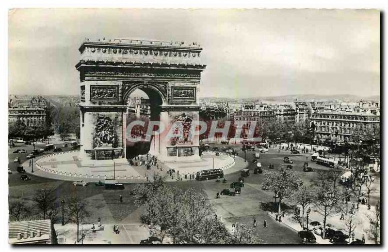 Old Postcard Paris Arc de Triomphe Place de l'Etoile