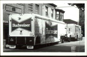 Budweiser Beer Delivery Trucks 1992 Kowalak Real Photo Postcard