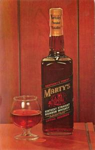 1960s Bourbon Whiskey Advertising Dexter interior postcard 877 Marty's