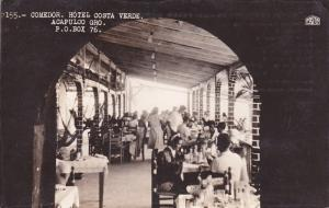 RP: Comedor. Hotel Costa Verde, ACAPULCO , Gro. Mexico , 20-30s