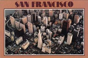 California San Francisco Aerial View Shows The Financial Center Of Downtown W...
