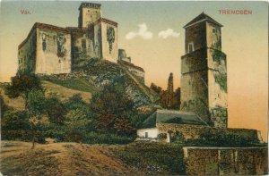 Postcard Slovakia Trencin castle