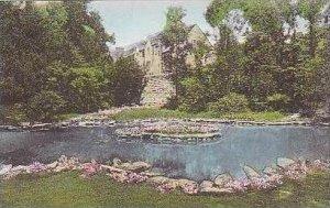 Indiana Bloomington Sunken Gardens Forest Hall in Background Indiana Universi...