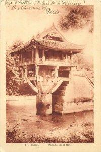 INDO-CHINE VIETNAM Hanoi-Pagode Mot Cot 1931 postcard