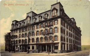 Harrisburg Pennsylvania~The Bolton Hotel~Info & Rates on Back~1910 Postcard