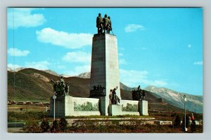 Emigration Canyon UT-Utah, This Is The Place Monument Chrome Postcard