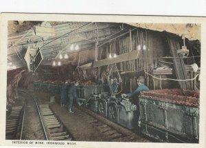 IRONWOOD , Michigan, 1900-10s ; Interior of Mine