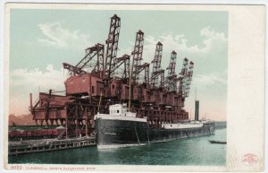 CLEVELAND, Ohio, 1900-10s; Clamshell Hoists, Ship Spokane