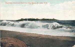 Partridge Island and Surf - St John NB, New Brunswick, Canada - pm 1909