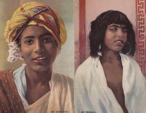 Bedouine Jeune Arab Arabe 2x Old Glamour Postcard s