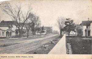 Belle Plaine IA~Dirt 8th Ave~Homes~Christ United Methodist Episcopal Church 1911